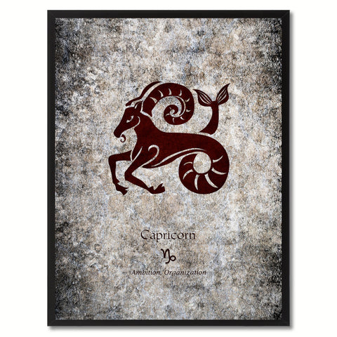 Zodiac Dog Horoscope Canvas Print Brown Picture Frame Home Decor Wall Art Gift Ideas