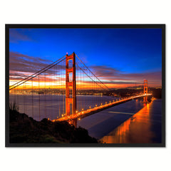 Golden Gate Bridge California Landscape Photo Canvas Print Pictures Frames Home Décor Wall Art Gifts