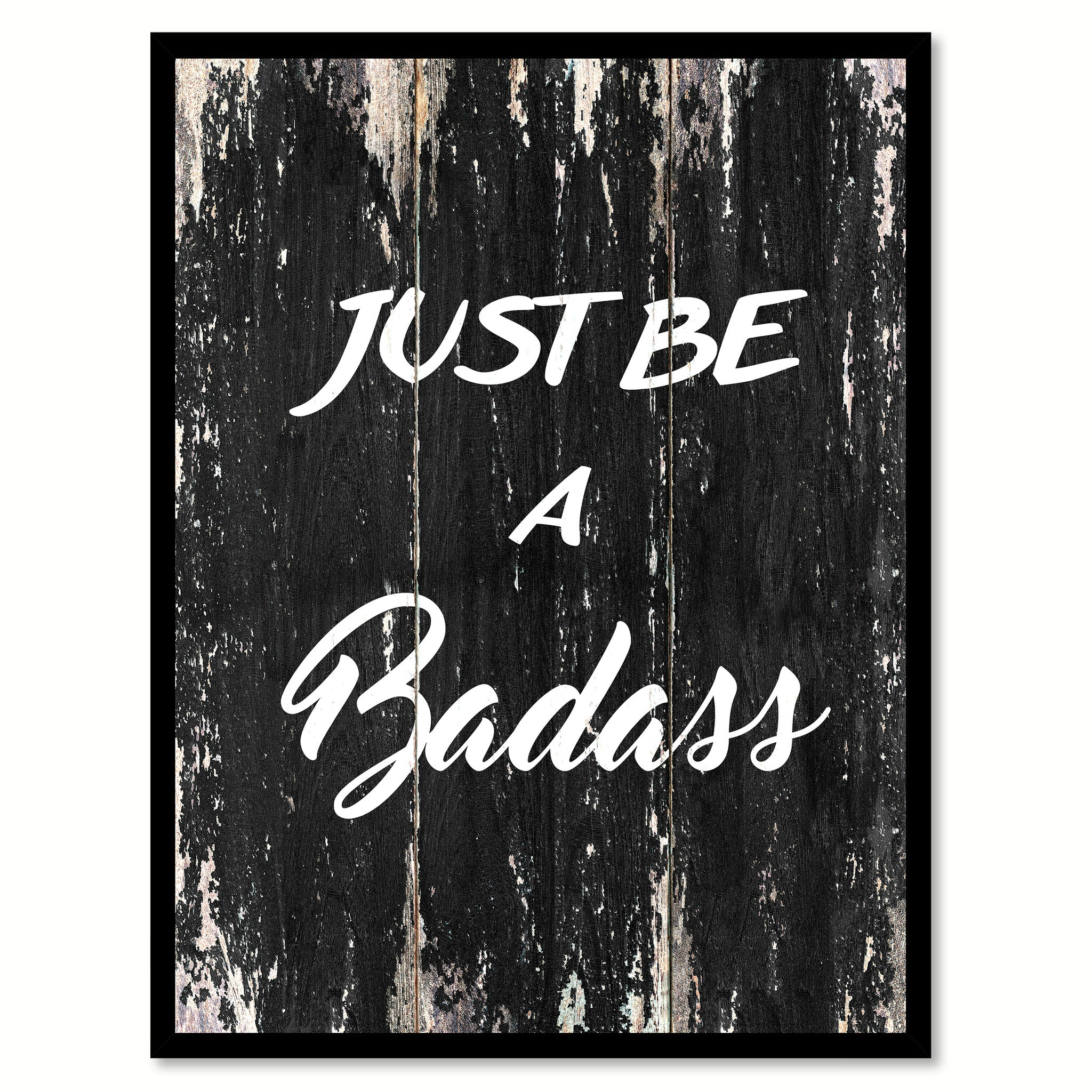 Elegant Just Be A Badass Motivational Quote Saying Canvas Print With Picture Frame Home  Decor Wall Art
