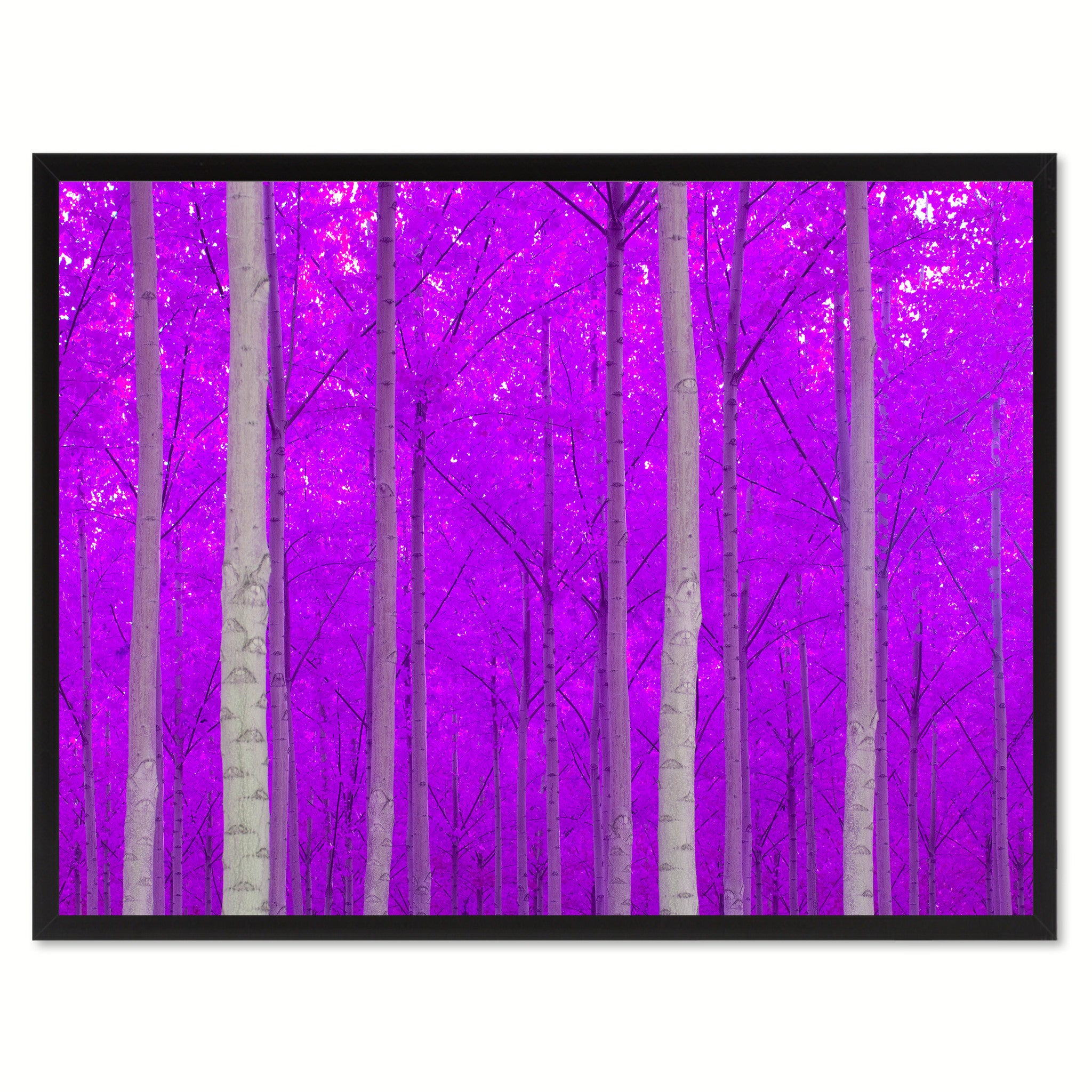 Autumn Tree Purple Landscape Photo Canvas Print Pictures Frames Home Décor Wall Art Gifts
