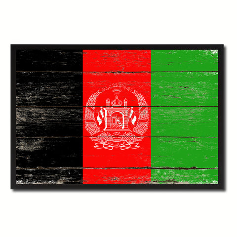 Afghanistan Country National Flag Vintage Canvas Print with Picture Frame Home Decor Wall Art Collection Gift Ideas