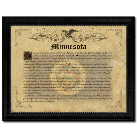 Minnesota Texture Flag Canvas Print, Picture Frame Gift Ideas Home Décor Wall Art Decoration