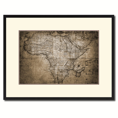 Africa Mapmaker Vintage Sepia Map Canvas Print, Picture Frame Gifts Home Decor Wall Art Decoration