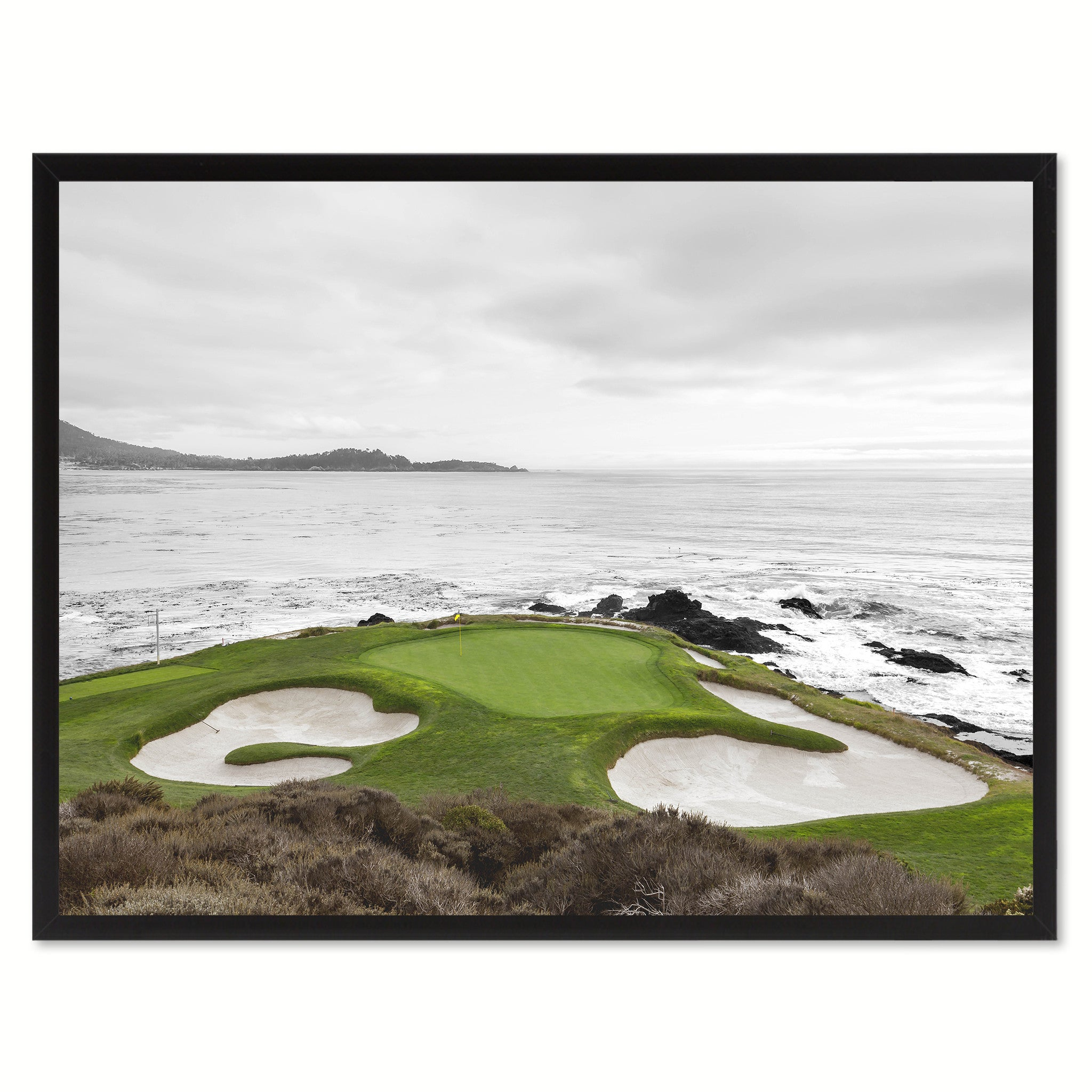Pebble Beach CA Golf Course Photo Canvas Print Pictures Frames Home Décor Wall Art Gifts