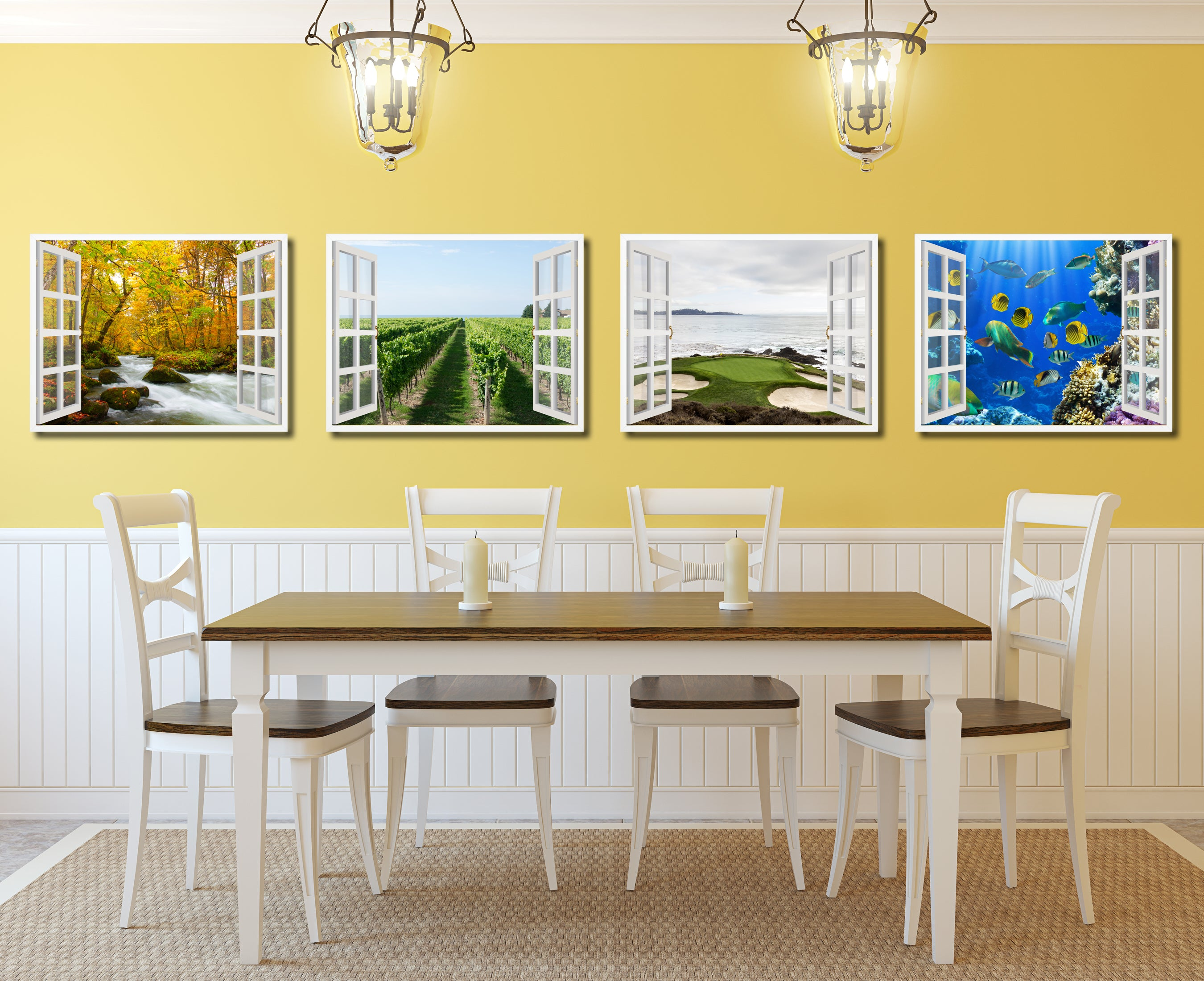 94+ Vineyard Home Decor - Super Large Single Picture Landscape ...