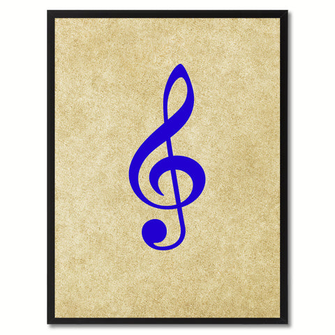 Treble Music Brown Canvas Print Pictures Frames Office Home Décor Wall Art Gifts