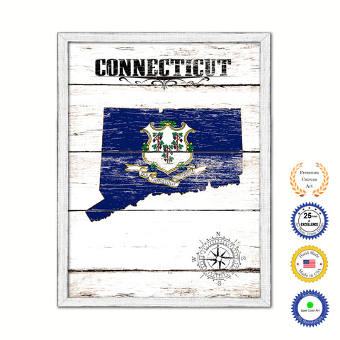 Connecticut State Vintage Map Home Decor Wall Art Office Decoration Gift Ideas