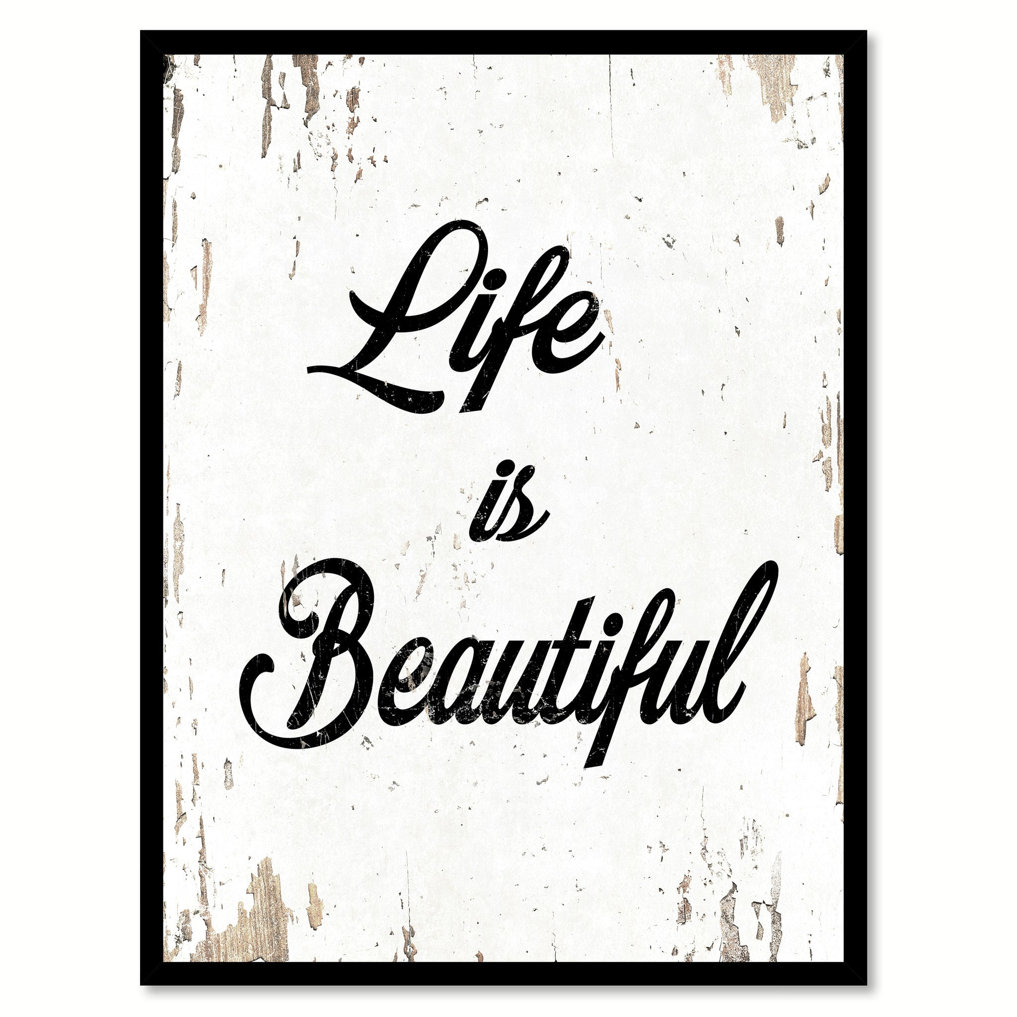 Life Is Beautiful Inspirational Motivation Quote Saying Canvas Print