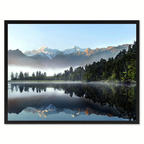 Lake Matheson  New Zealand Landscape Photo Canvas Print Pictures Frames Home Décor Wall Art Gifts