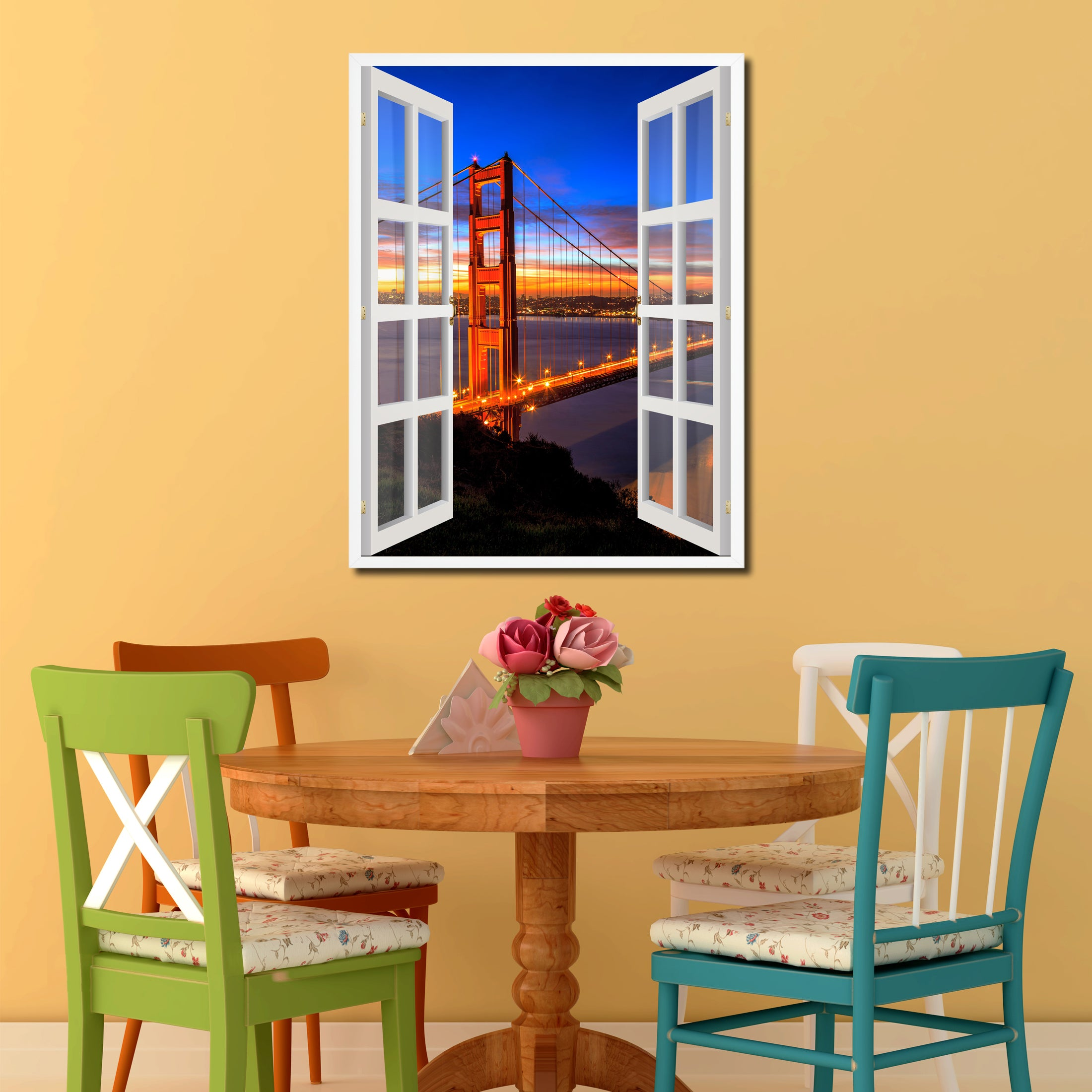 Golden Gate Bridge San Francisco California Sunset Picture Window ...