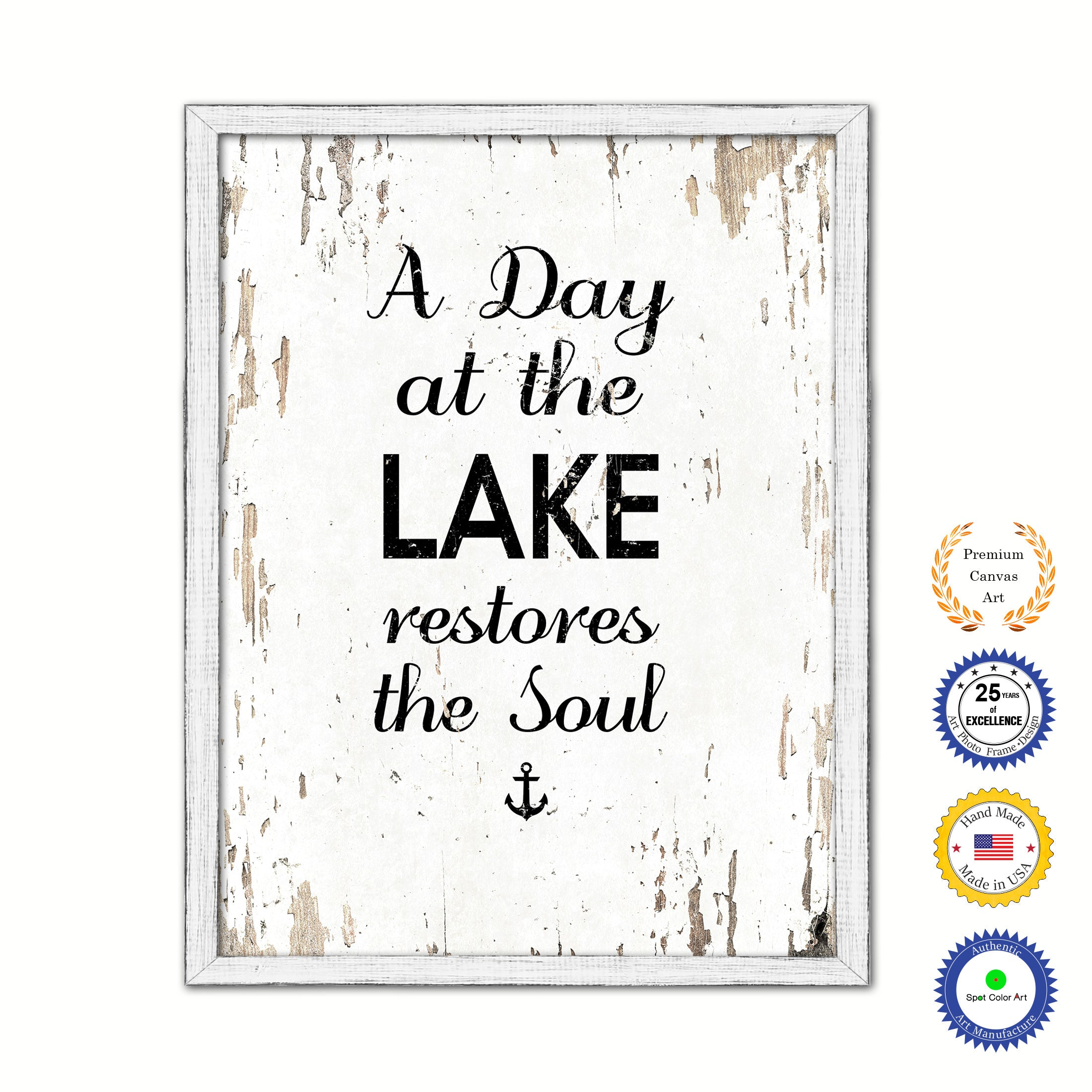 A Day At The Lake Restores The Soul Inspirational Saying Motivation