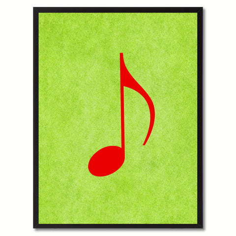 Quaver Music Green Canvas Print Pictures Frames Office Home Décor Wall Art Gifts
