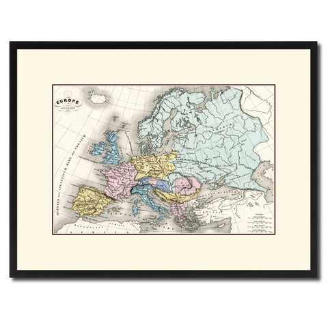 Ancient Europe Vintage Antique Map Wall Art Home Decor Gift Ideas Canvas Print Custom Picture Frame