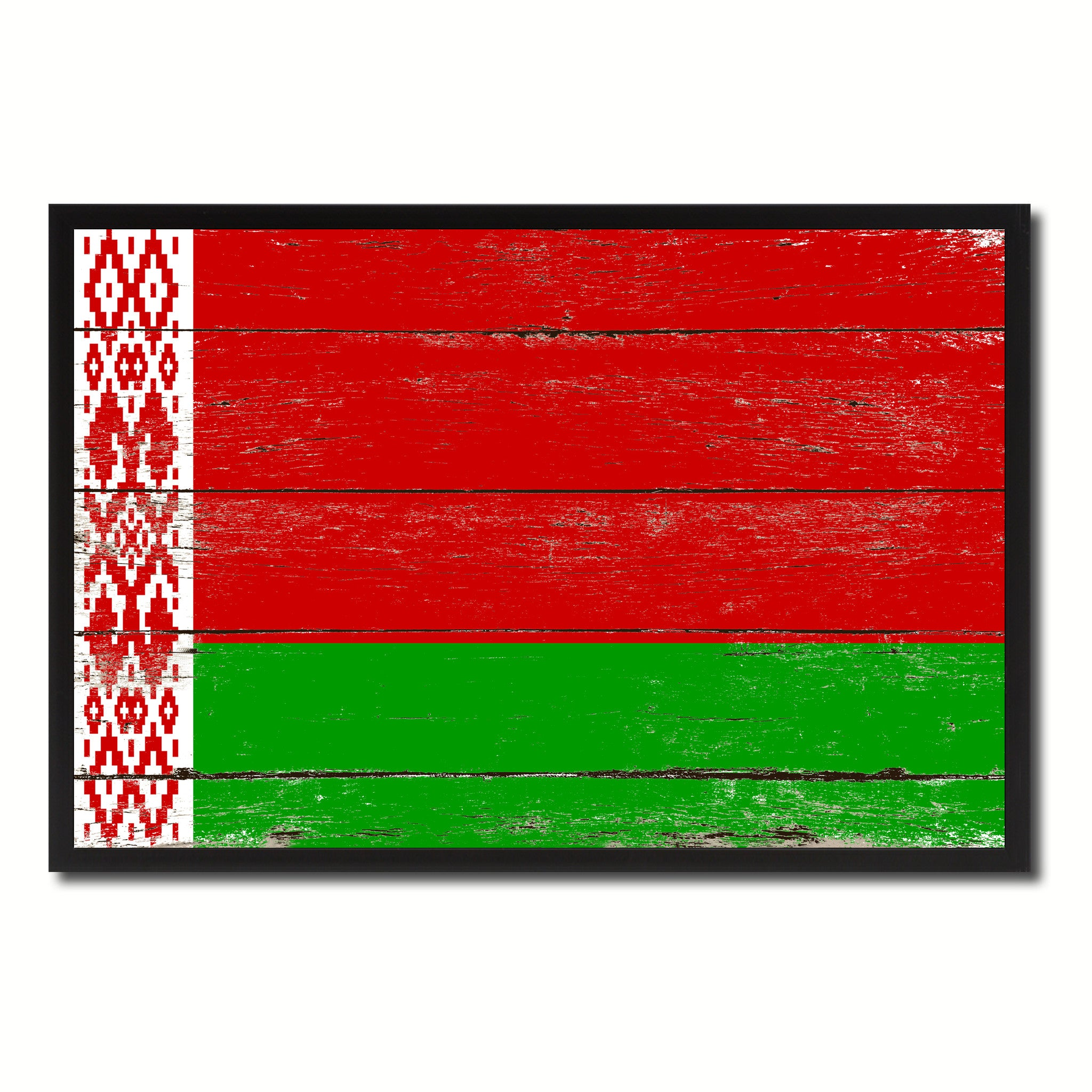 Belarus Country National Flag Vintage Canvas Print with Picture Frame Home Decor Wall Art Collection Gift Ideas