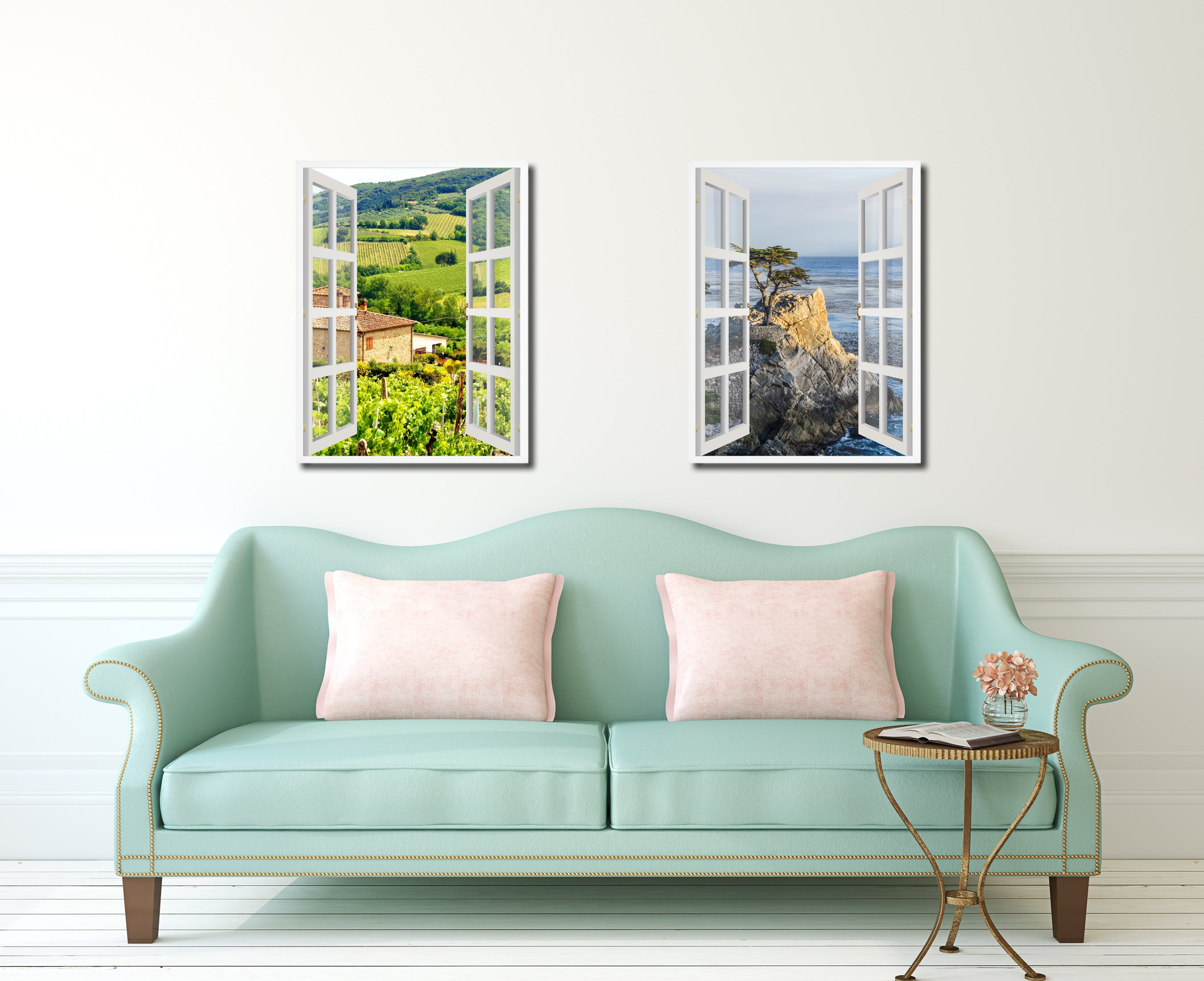 Wine Vineyards Tuscany Italy Picture Window Wall Art Home Decor Gift ...