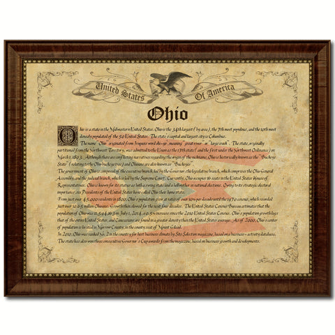 Ohio State Shabby Chic Flag Home Decor Office Wall Art Collection ...