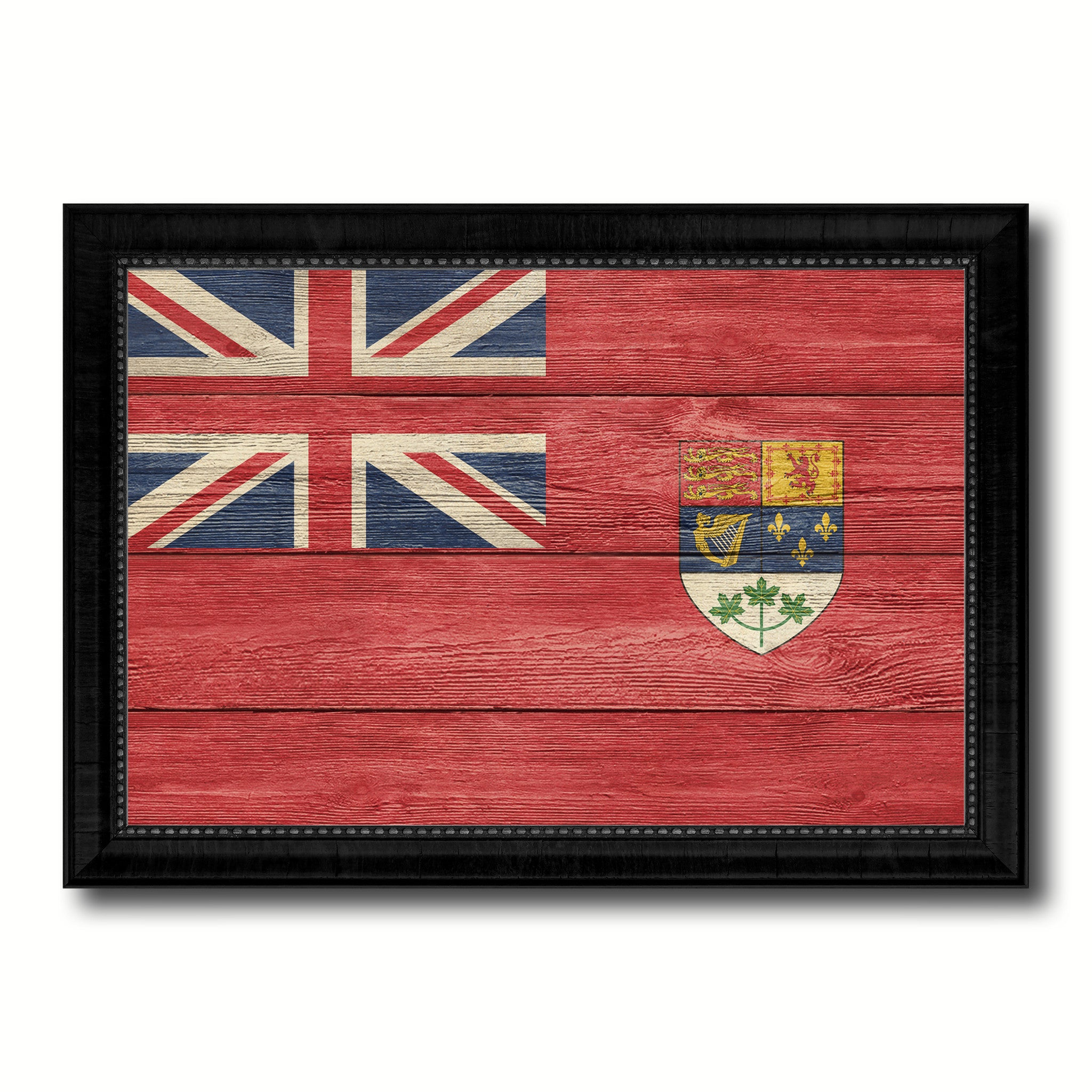 Canadian Red Ensign City Canada Country Texture Flag Canvas Print Black Picture Frame