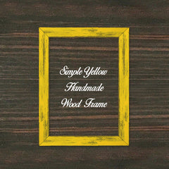 Simple Yellow Wood Frame Wholesale Farmhouse Shabby Chic Picture Photo Poster Art Home Decor