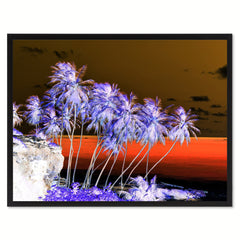 Palm Tree Invert Landscape Photo Canvas Print Pictures Frames Home Décor Wall Art Gifts