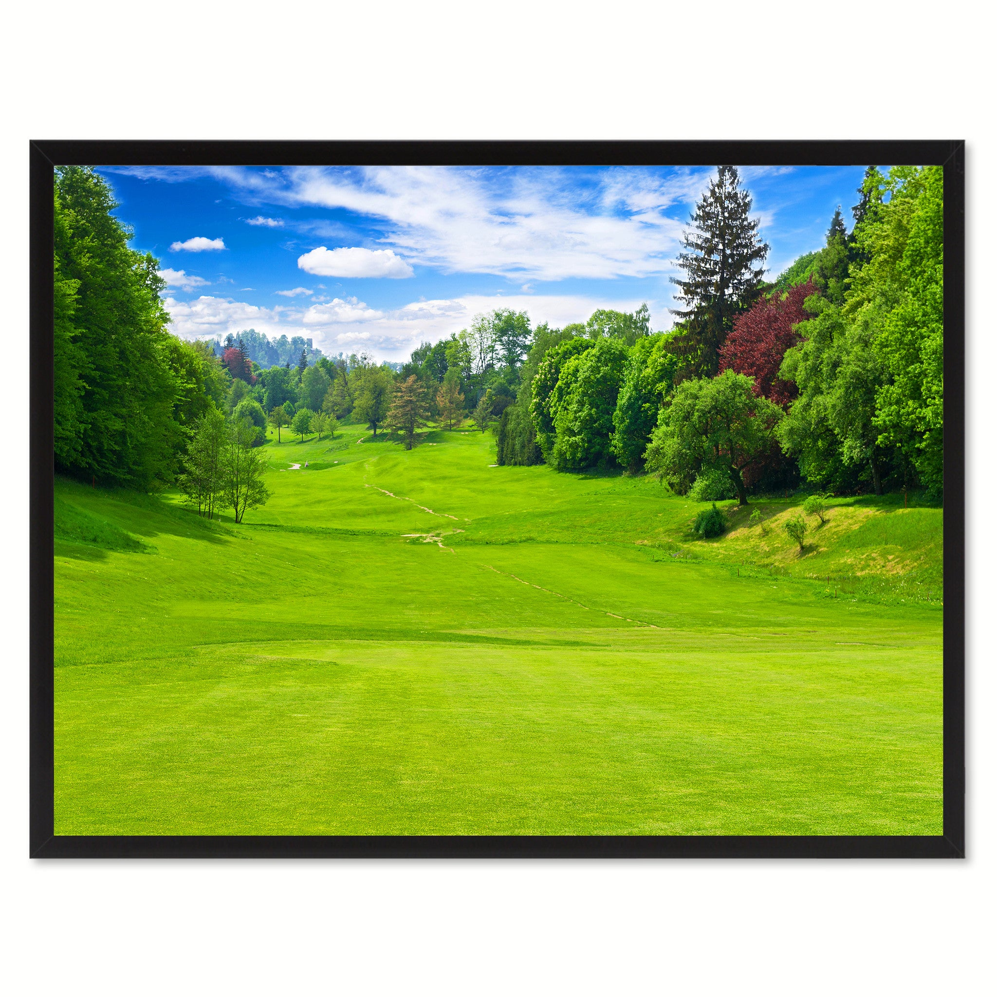 Vancouver Golf Course Photo Canvas Print Pictures Frames Home Décor Wall Art Gifts