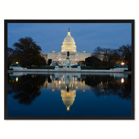 Capital Washington DC Landscape Photo Canvas Print Pictures Frames Home Décor Wall Art Gifts