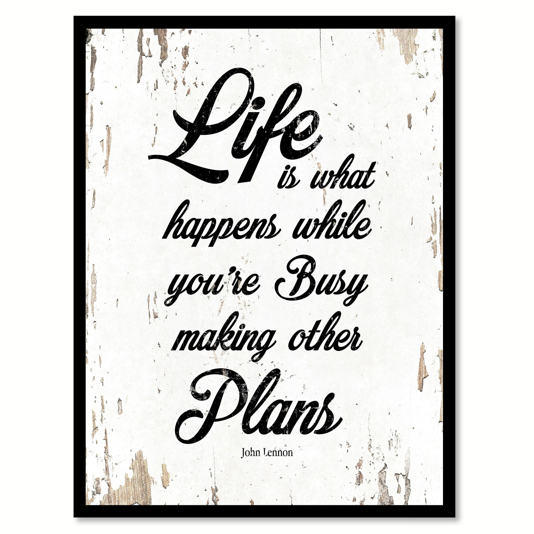 Life Is What Happens John Lennon Quote Saying Home Decor Wall Art Gift Ideas 111806