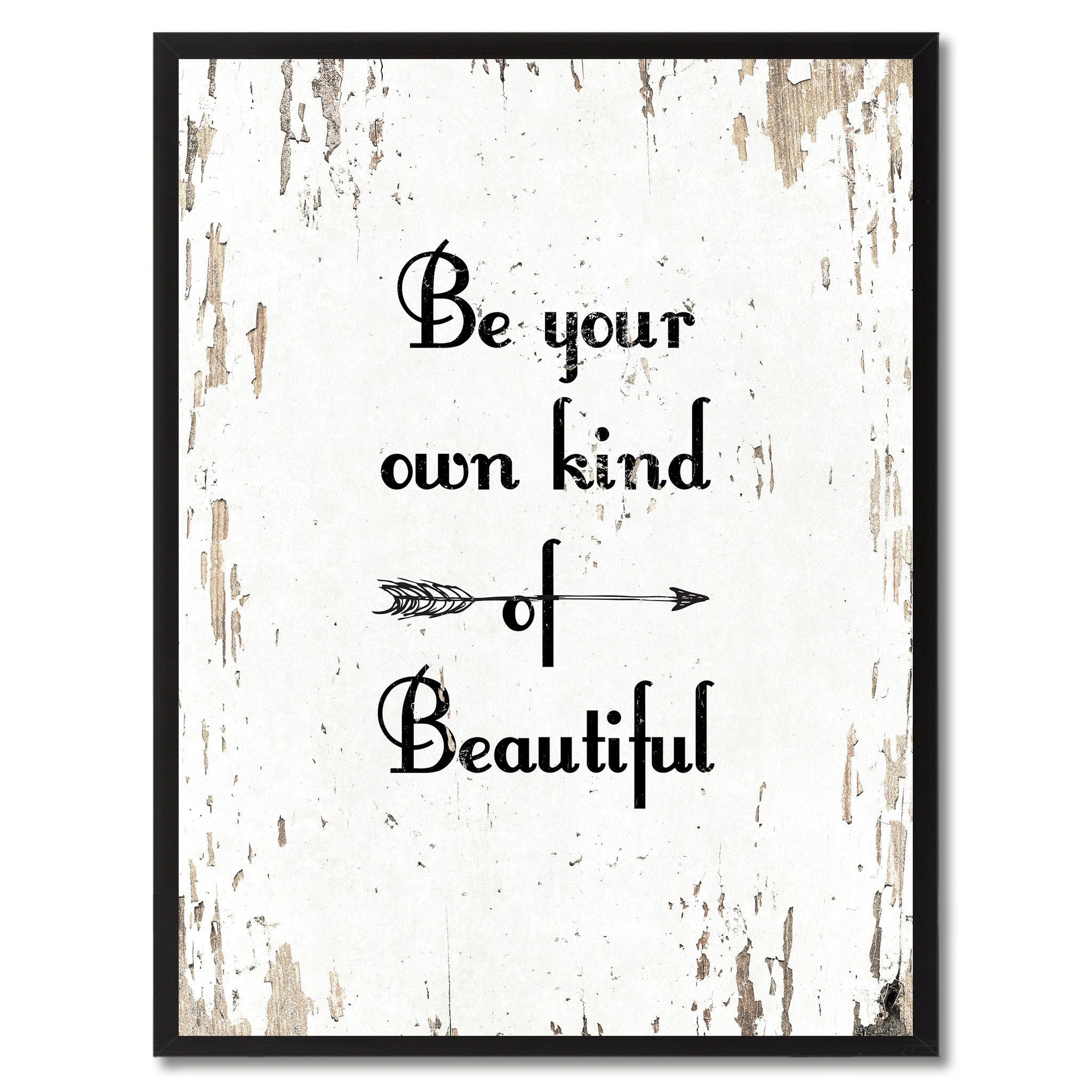 Be Your Own Kind Of Beautiful Saying Motivation Quote Canvas Print, Black Picture Frame Home Decor Wall Art Gifts