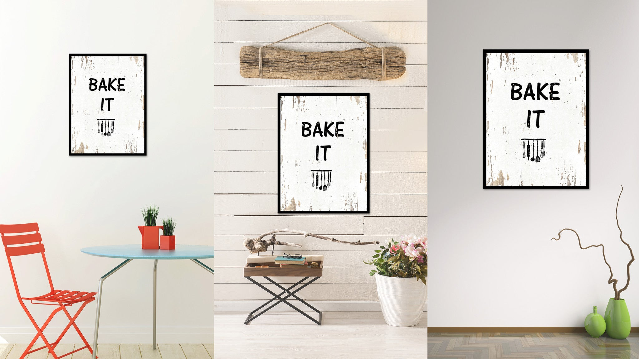 Bake It Quote Saying Gift Ideas Home Decor Wall Art 111453