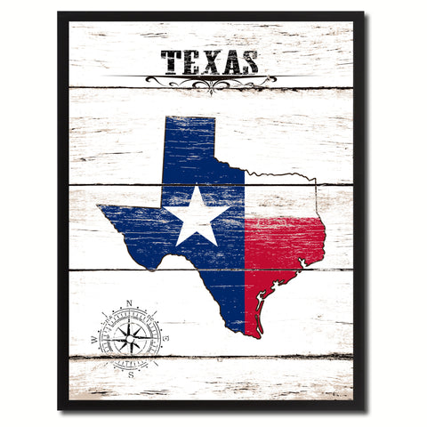 Texas State Flag Gifts Home Decor Wall Art Canvas Print Picture Frames