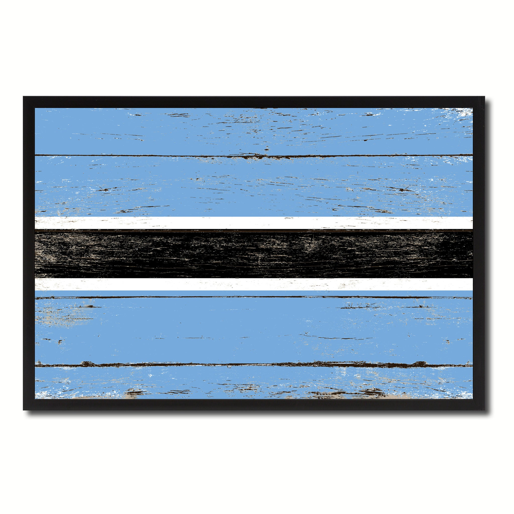 Botswana Country National Flag Vintage Canvas Print with Picture Frame Home Decor Wall Art Collection Gift Ideas