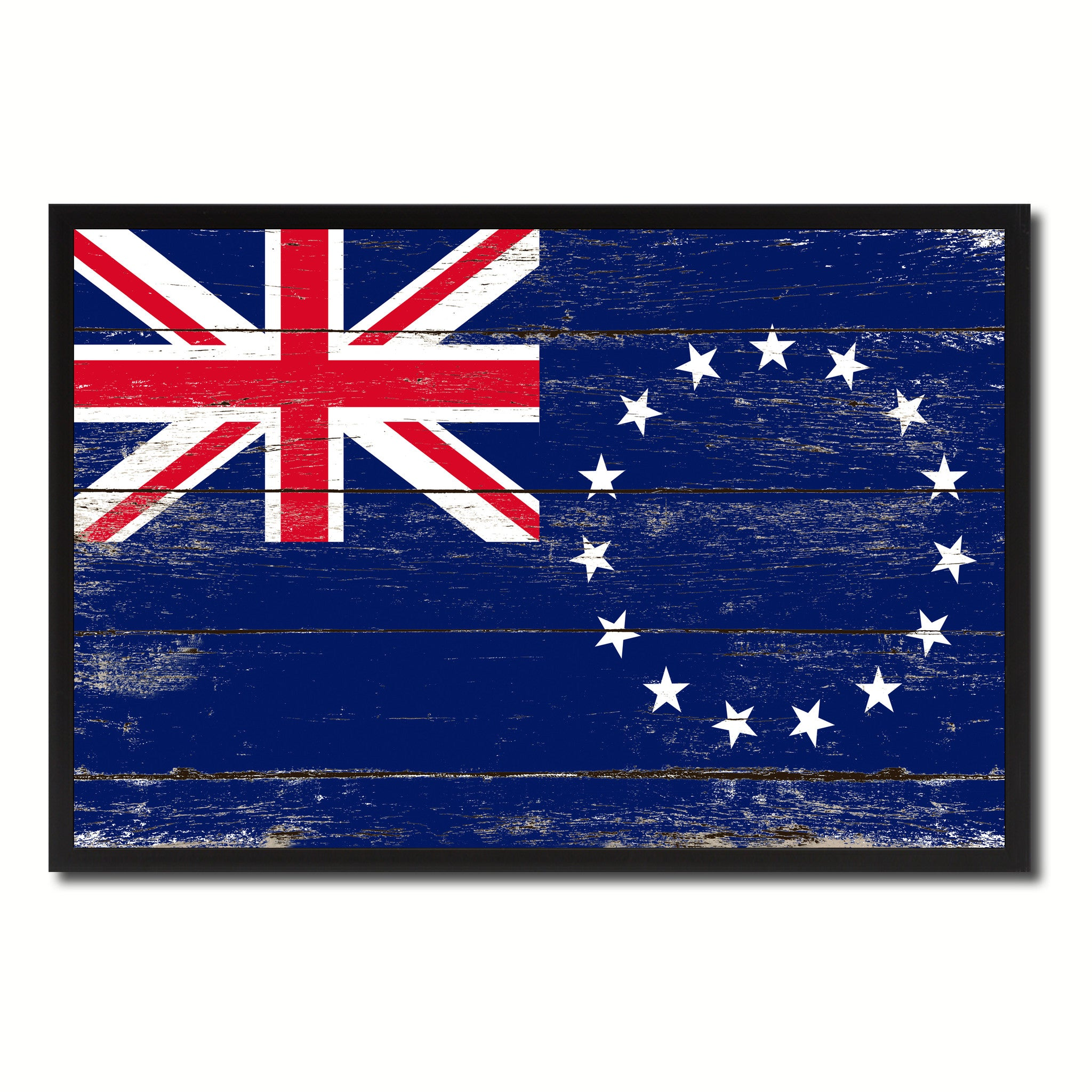 Cook Islands Country National Flag Vintage Canvas Print with Picture Frame Home Decor Wall Art Collection Gift Ideas