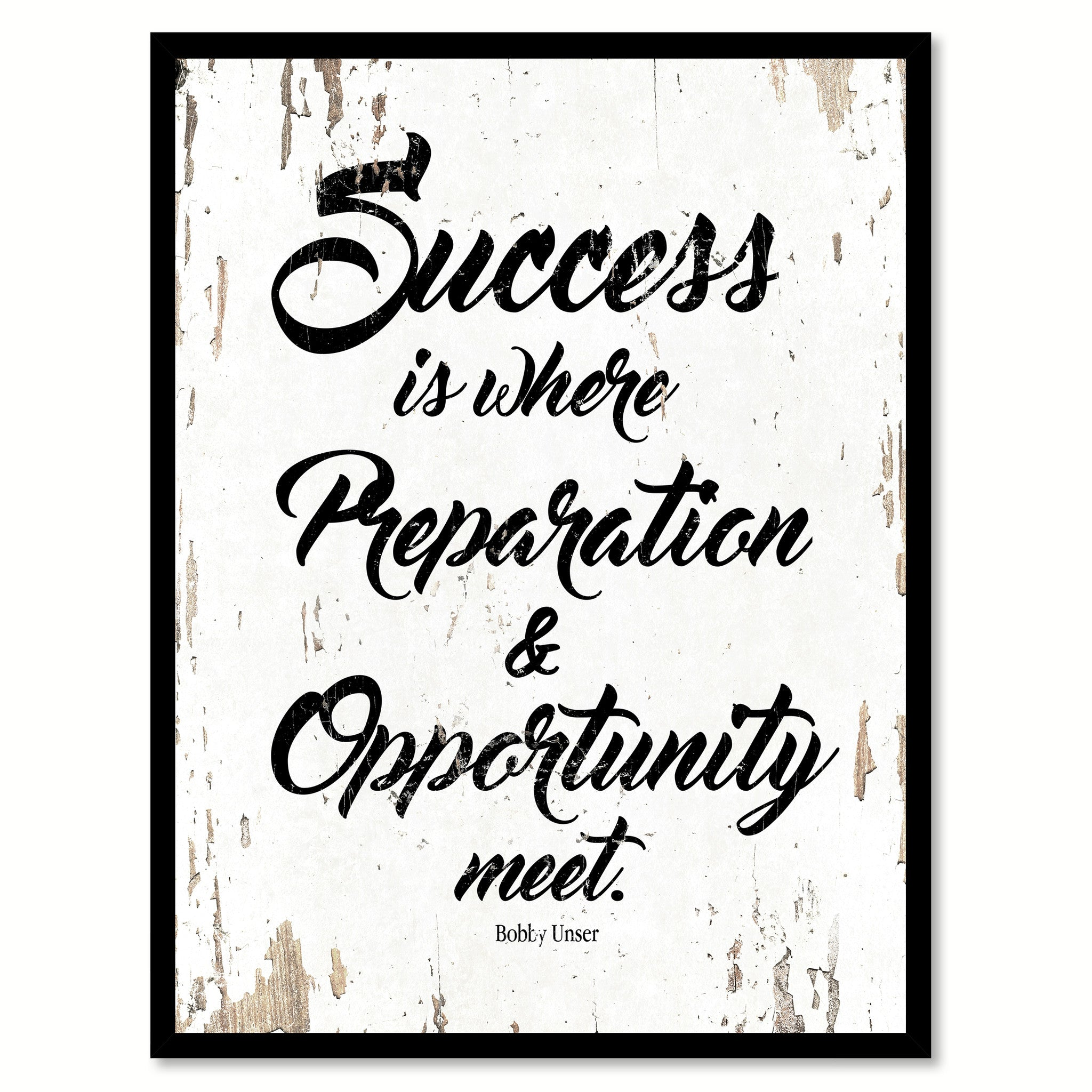 Quote Success Is When Preparation Meets Opportunity: Success Is Where Preparation And Opportunity Meet Bobby