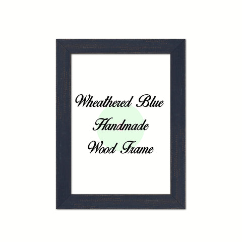 Wheathered Blue Wood Frame Wholesale Farmhouse Shabby Chic Picture Photo Poster Art Home Decor
