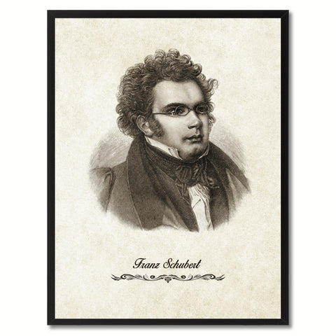 Schubert Musician Canvas Print Pictures Frames Music Home Décor Wall Art Gifts