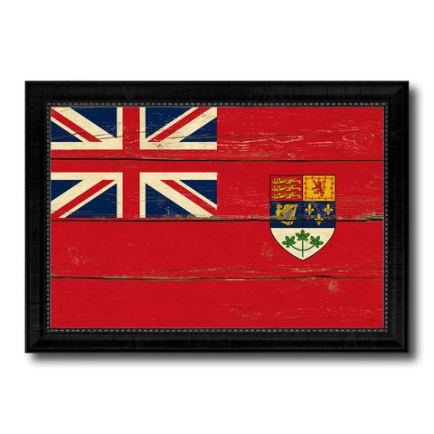 Canadian Red Ensign City Canada Country Vintage Flag Canvas Print Black Picture Frame