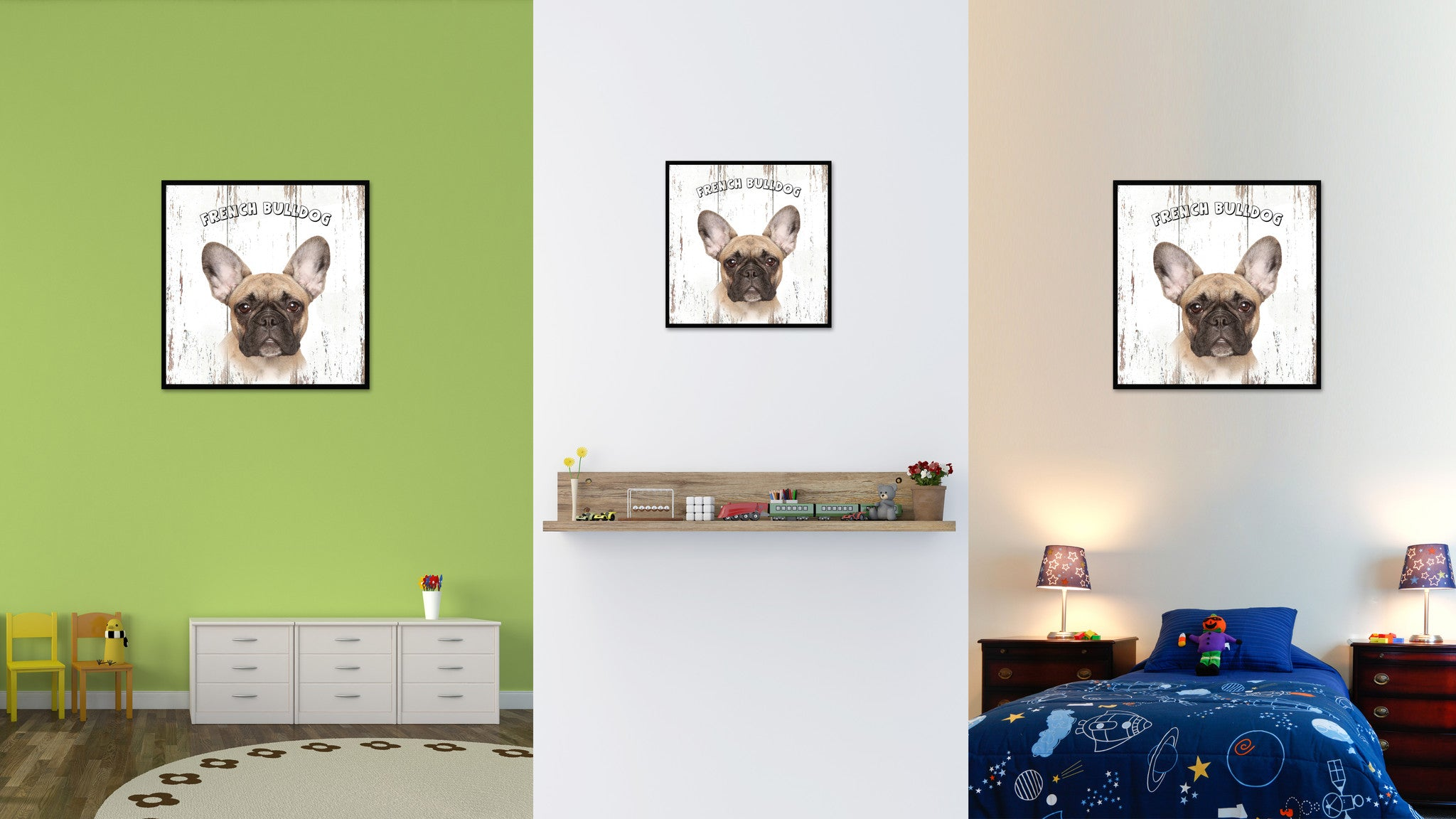 French Bulldog Dog Canvas Print Picture Frame Gift Home Decor Wall Art Decoration