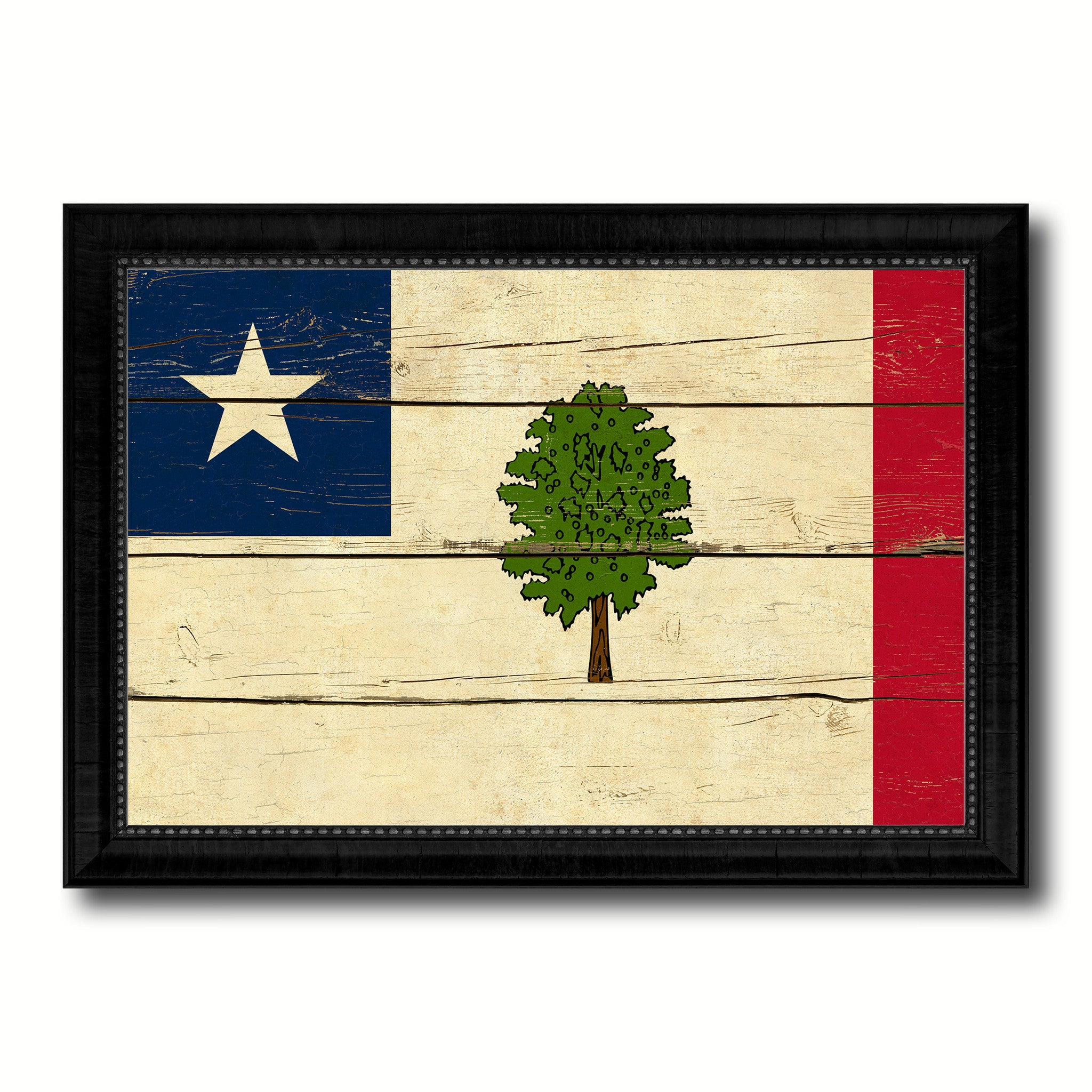 Magnolia City Mississippi State Vintage Flag Home Decor Office Wall ...