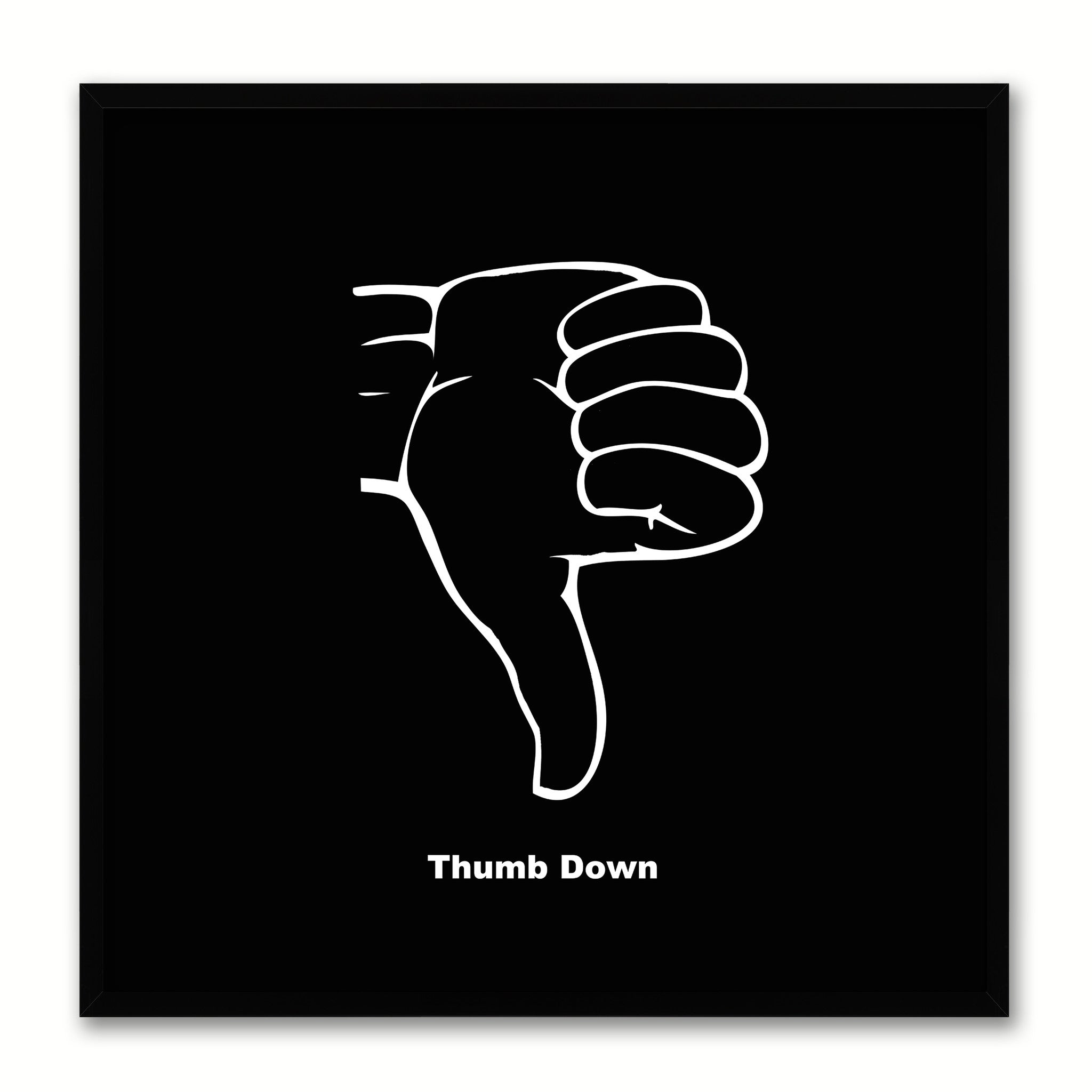Thumbs Down Social Media Icon Canvas Print Picture Frame Wall Art Home Decor