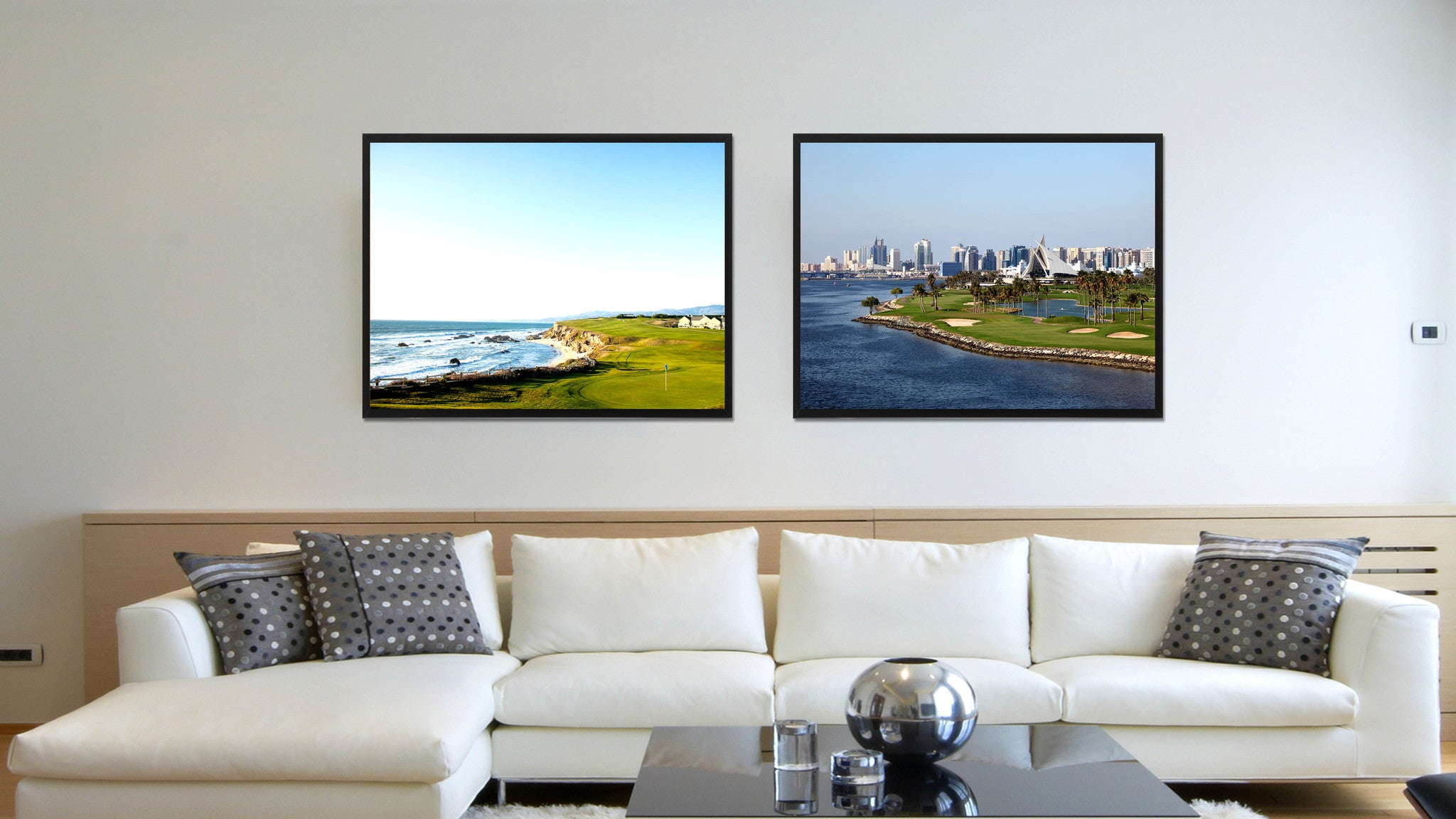 Dubai Creek Golf Course Photo Canvas Print Pictures Frames Home Décor Wall Art Gifts