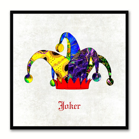 Joker White Canvas Print Black Frame Kids Bedroom Wall Home Décor