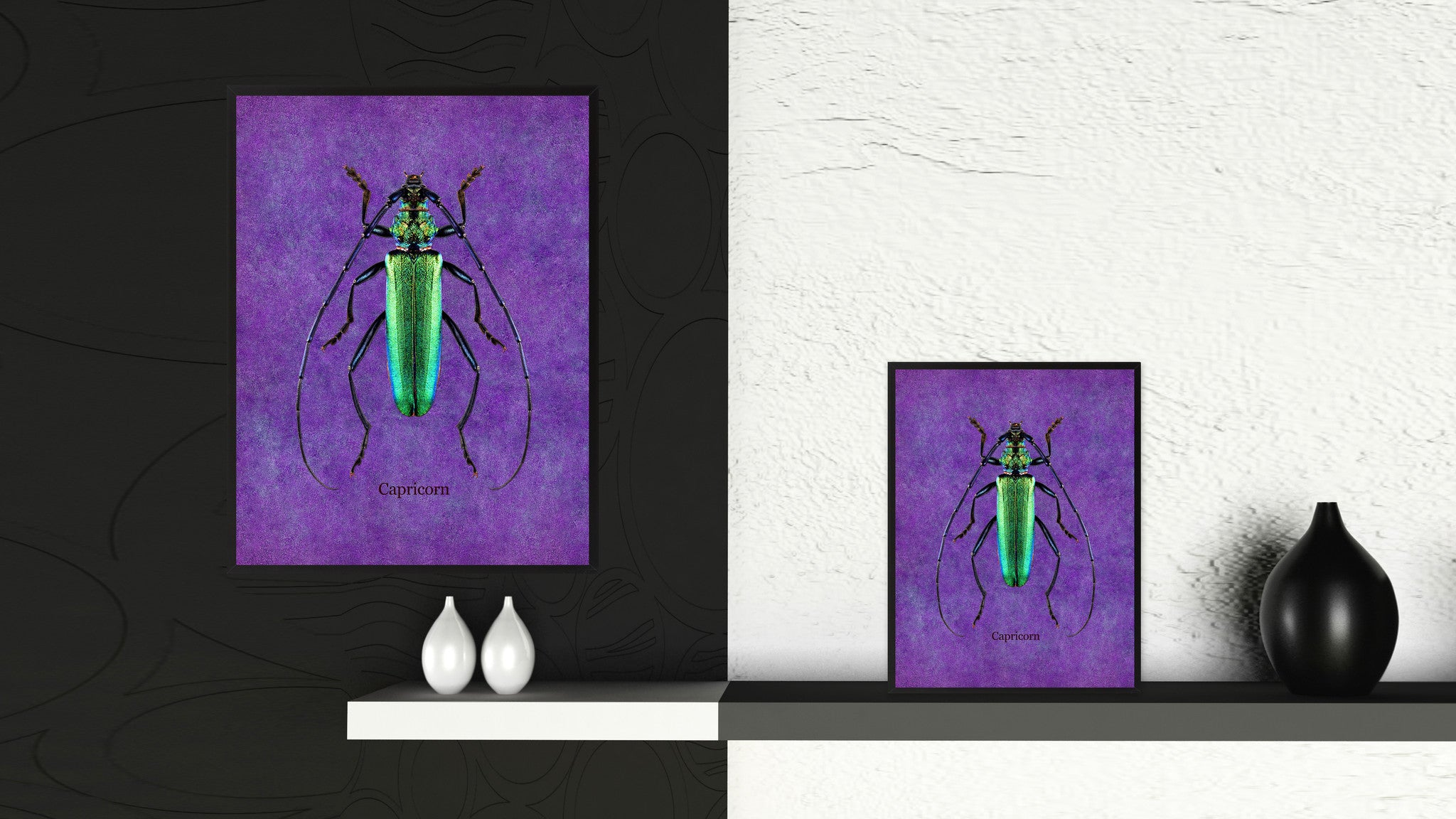Capricorn Purple Canvas Print, Picture Frames Home Decor Wall Art Gifts