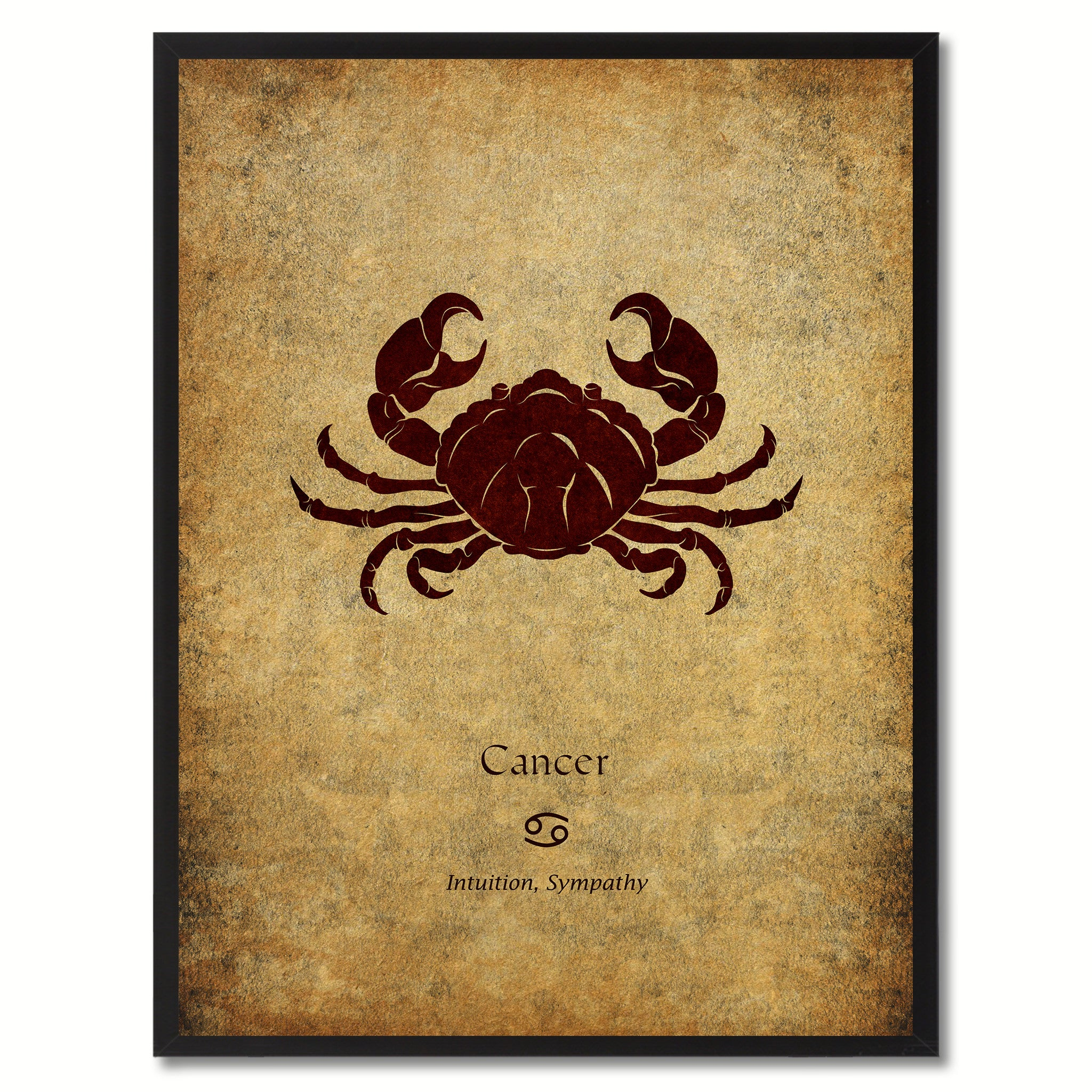 Zodiac Cancer Horoscope Astrology Canvas Print, Picture Frame Home Decor Wall Art Gift
