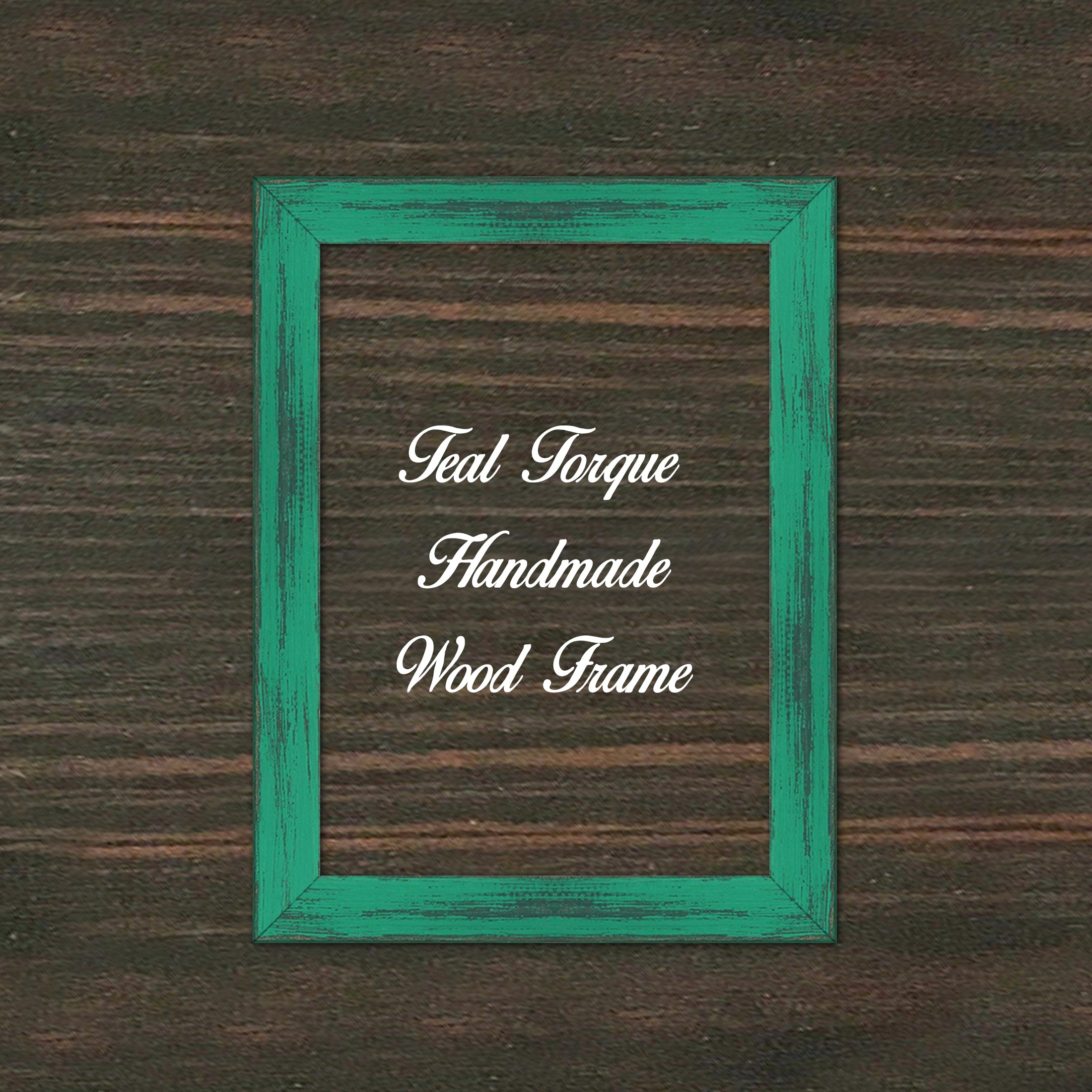Teal Torque Wood Frame Wholesale Farmhouse Shabby Chic Picture Photo Poster Art Home Decor