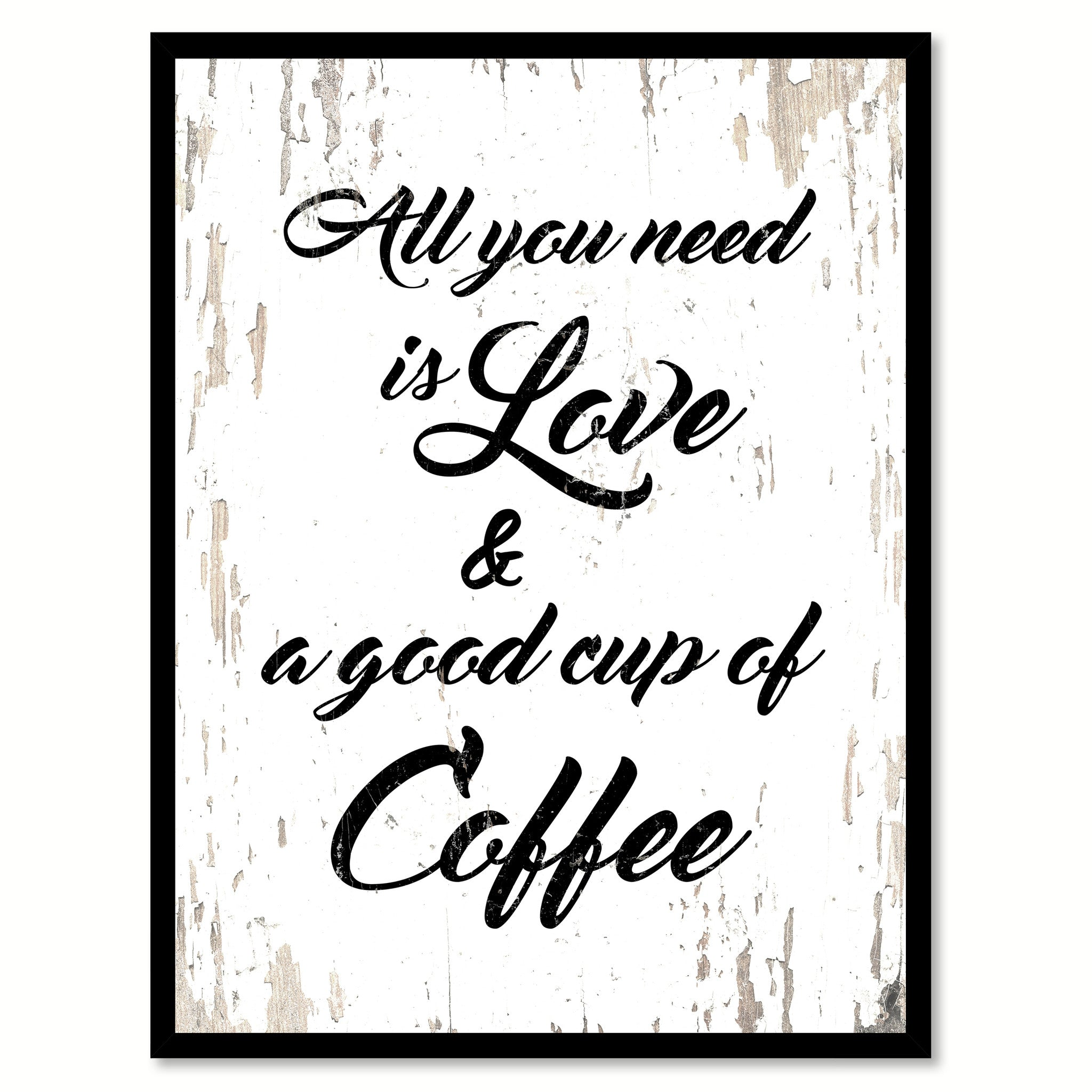 Love Quote Canvas All You Need Is Love & A Good Cup Of Coffee Coffee Wine Saying