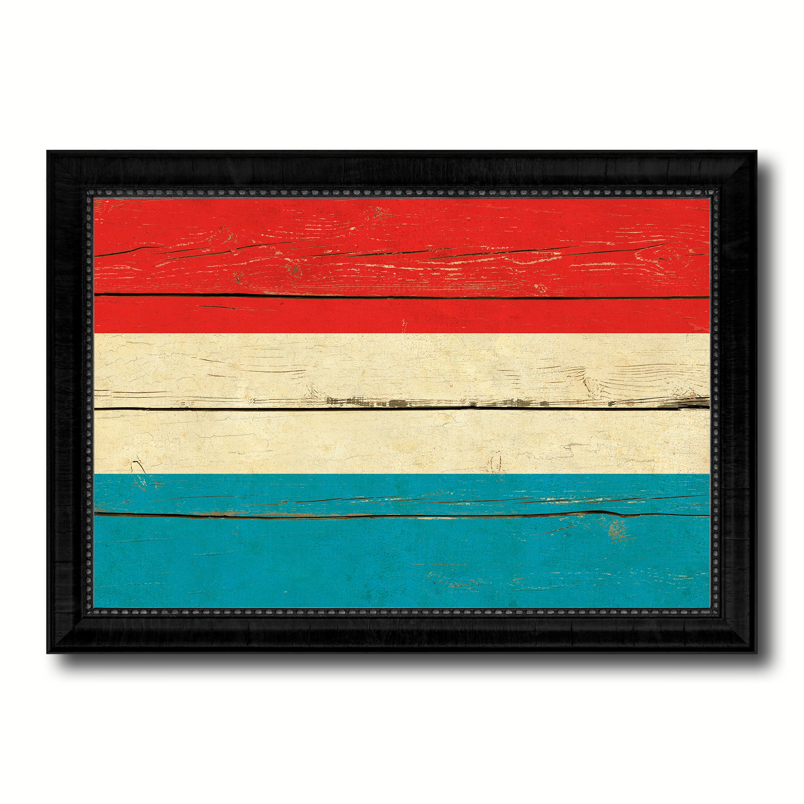 Luxembourg Country Flag Vintage Canvas Print with Black Picture Frame Home Decor Gifts Wall Art Decoration Artwork