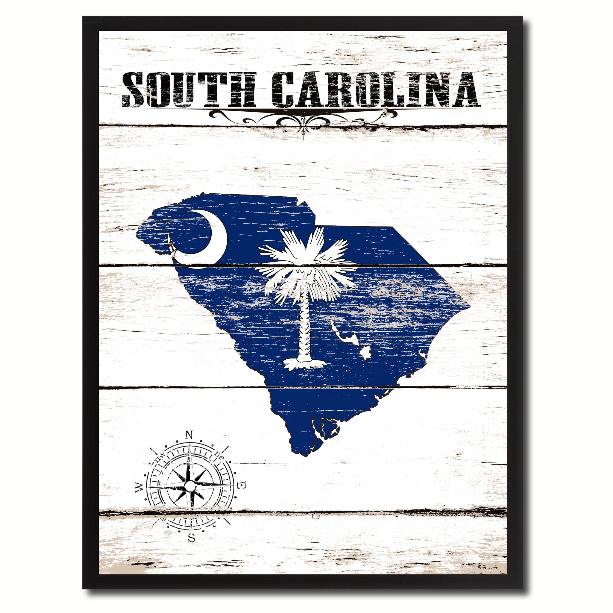 South Carolina State Home Decor Office Wall Art Decoration