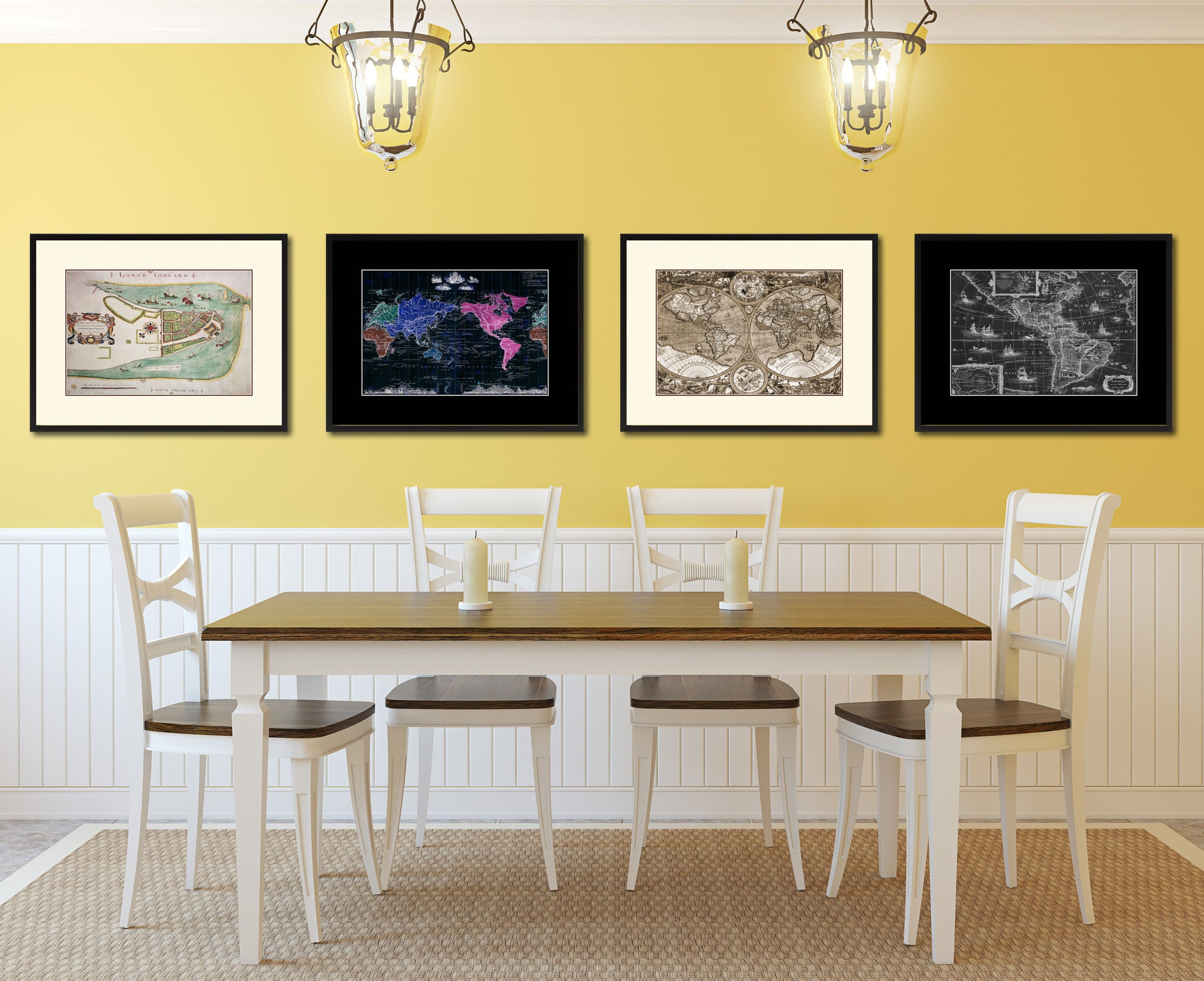 New York Vintage Antique Map Wall Art Bedroom Home Decor Gift Ideas ...