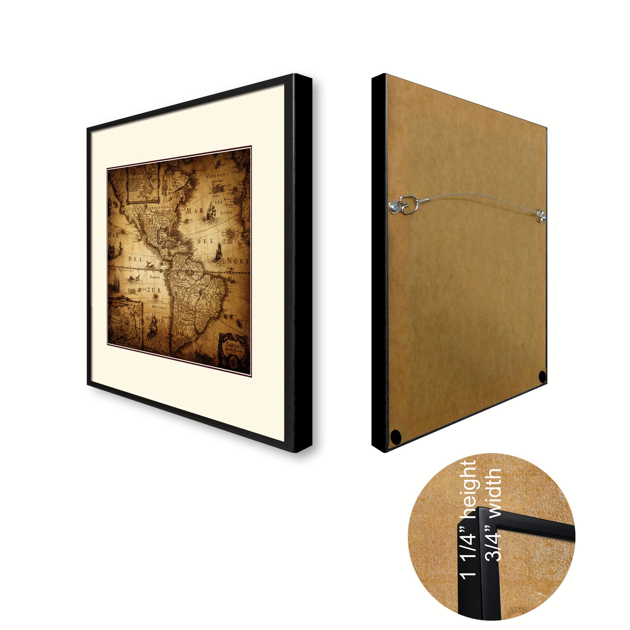 America Vintage Antique Map Wall Art Home Decor Gift Ideas Canvas Print Custom Picture Frame