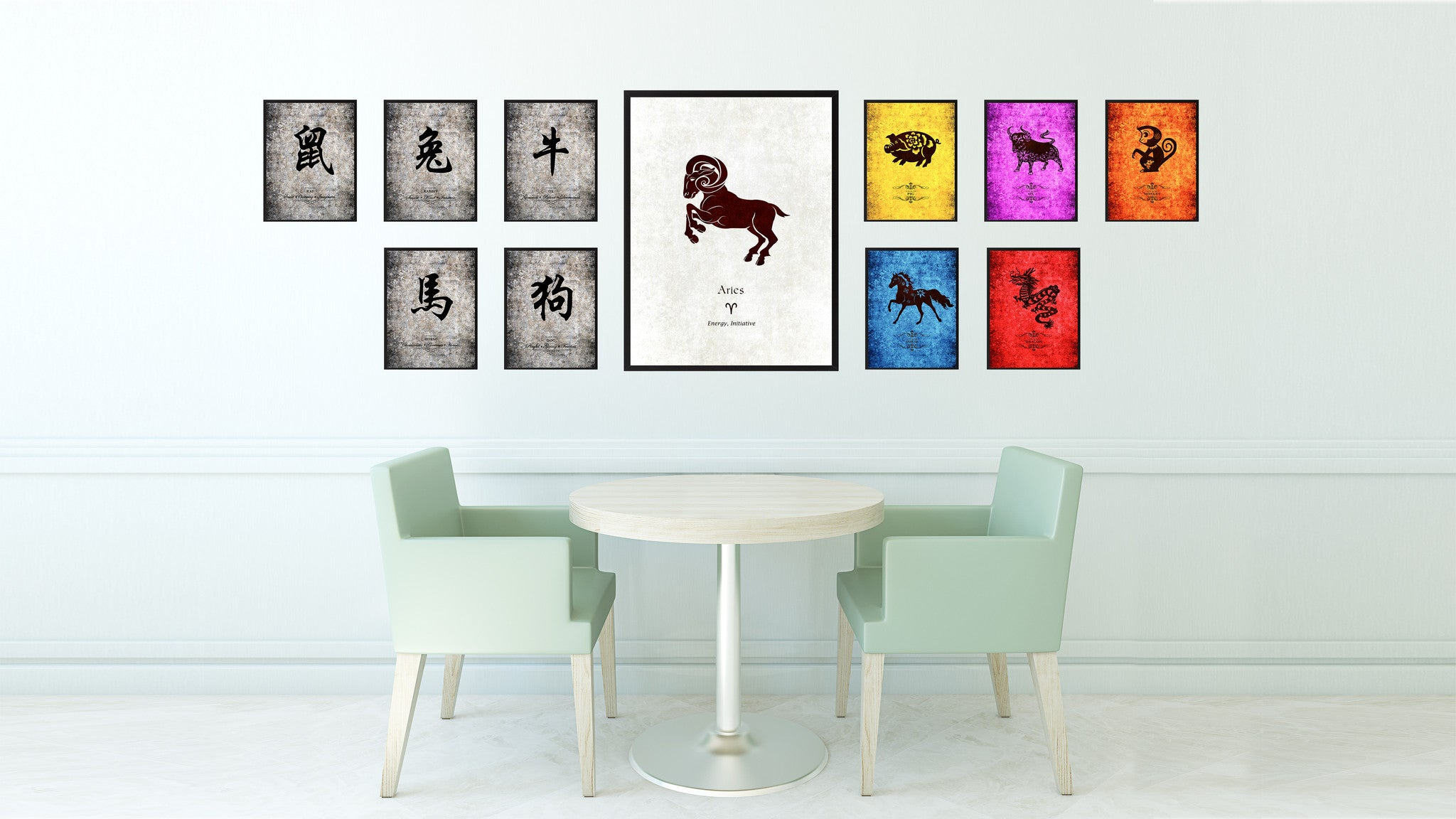 Zodiac Aries Horoscope Astrology Canvas Print, Picture Frame Home Decor Wall Art Gift