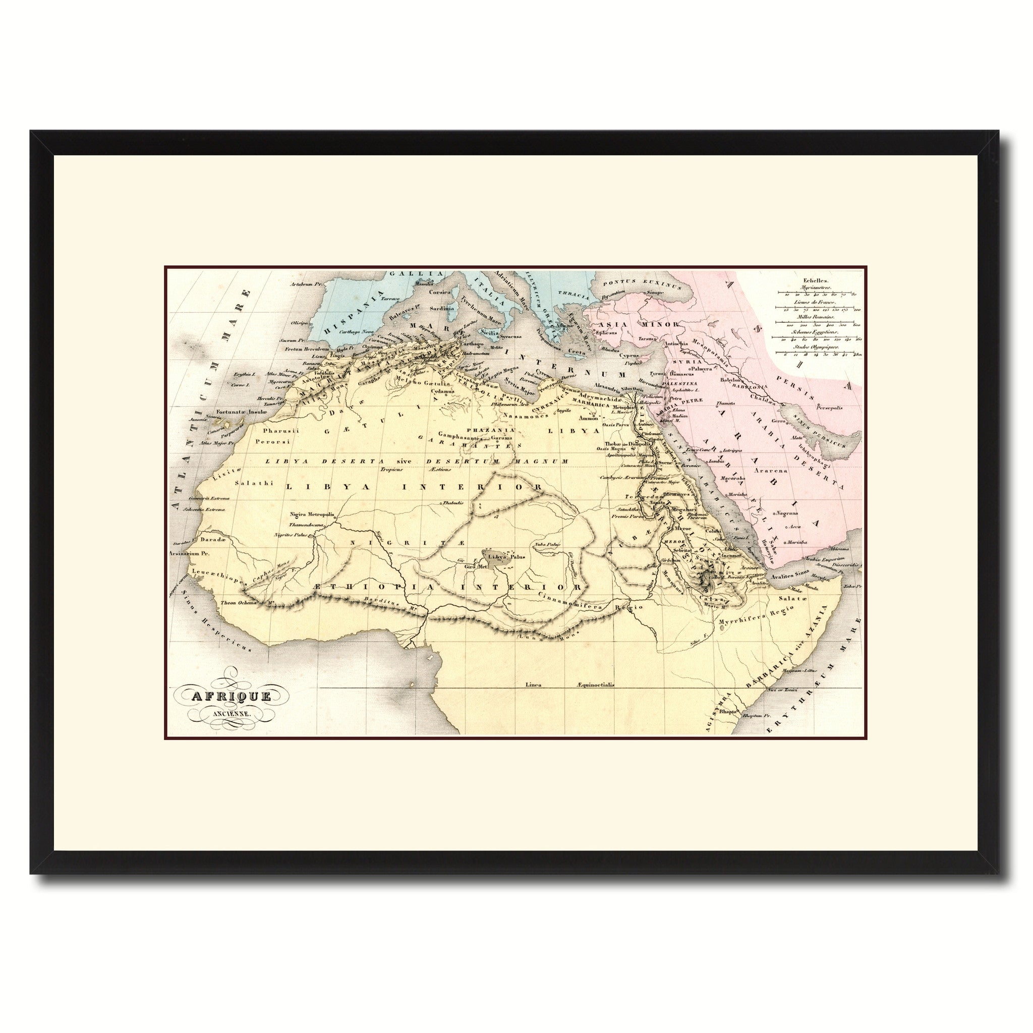 Ancient Africa Vintage Antique Map Wall Art Bedroom Home Decor Gift ...